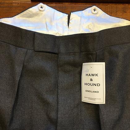 "35"" FRANK HALL grey wool trousers"