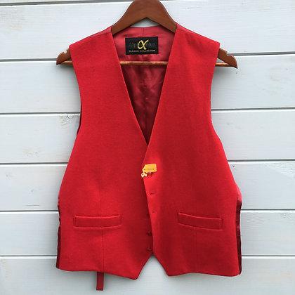 """Red Doeskin Waistcoat 40"""""""