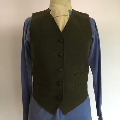 "Alexander James Green Moleskin Waistcoat 34"""