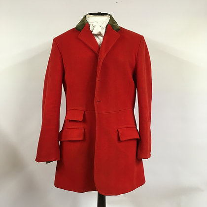 Harrods red 3 button hunt coat 42""