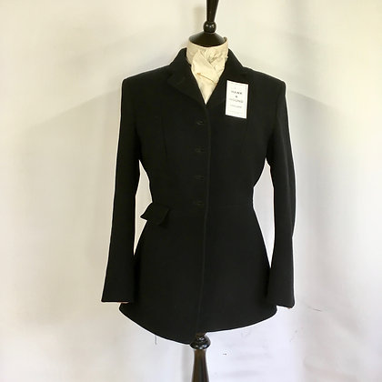 Ladies 4 Button Black Hunt Coat 36""