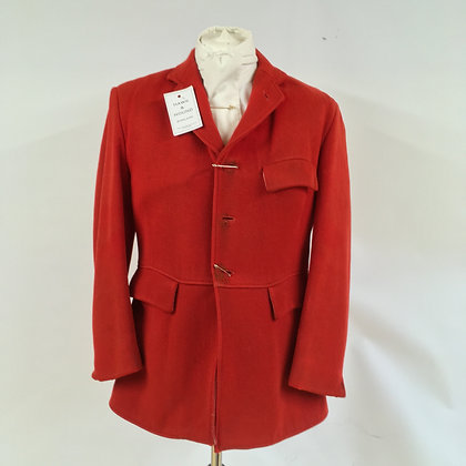 Giddens 3 button red hunt coat 40""