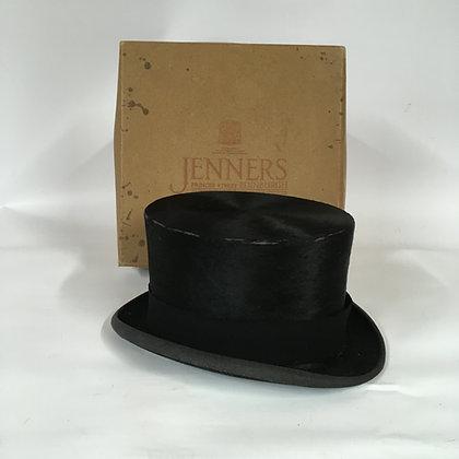 """Mrs White"" vintage hunting top hat 53cm  6 1/2"""