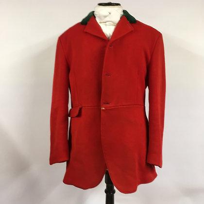 "Saddlemaster red 3 button hunt coat 42"""