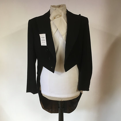 Black evening tailcoat 38""