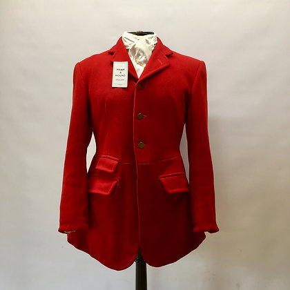 "Moss Bros 38"" 3 button red coat"