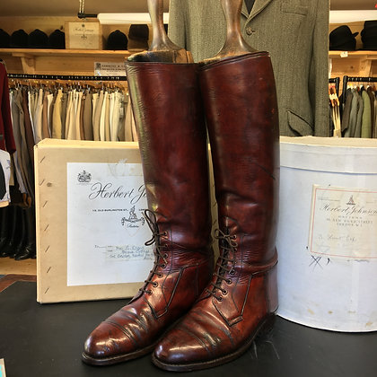 7.5 - 8 HORACE BATTEN FIELD BOOTS WITH ORIGINAL TREES