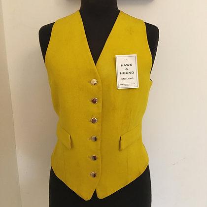"36"" FOXLEY ladies yellow wool waistcoat"