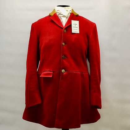 """42"""" FRANK HALL 1996 4 BUTTON RED COAT"""