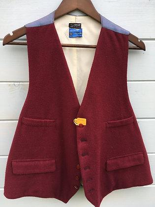 """Burgundy Doeskin Waistcoat 44"""""""