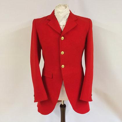 "Denman & Goddard 3 button red coat 38"""