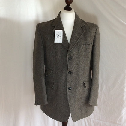 Gent's Grey Derby Tweed Coat 42""