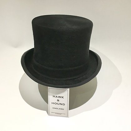 Size 7 - 57cm Black Hunting Top Hat by Lincoln Bennett & Co