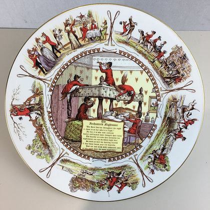 A Foxhunter's Nightmare Plate - Aynsley Fine Bone China