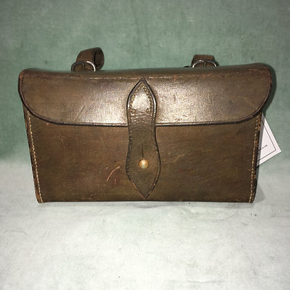 Vintage hunting sandwich tin and leather case