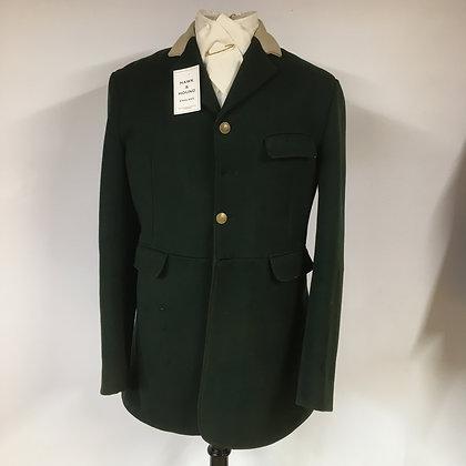"""Gent's Calcutt's 4 button green hunt coat 38"""""""