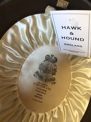 Tress & Co for H Hunter, Bowler hat 7 & 3/8  (60cm)