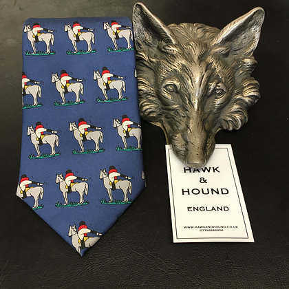 SILK TIE WITH HORSE AND RIDER