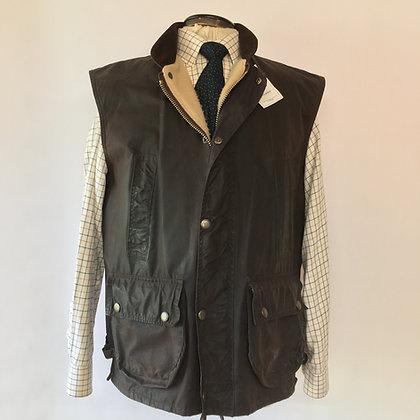 Waxed waistcoat/ gilet - large