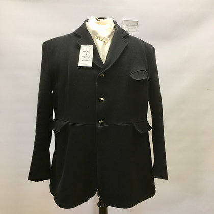 Caldene 3 button black coat 48""