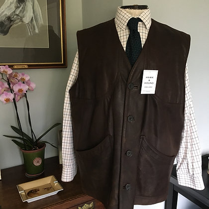 """46"""" PURDEY leather shooting vest"""