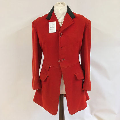 Moss Bros 3 button red hunt coat 40""