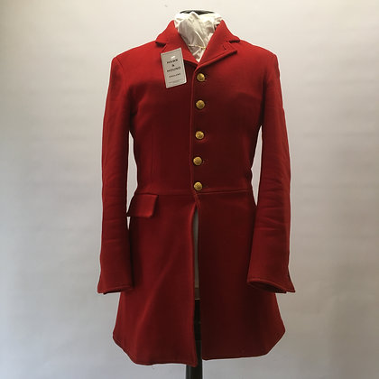 "5 Button red coat 38"" long"