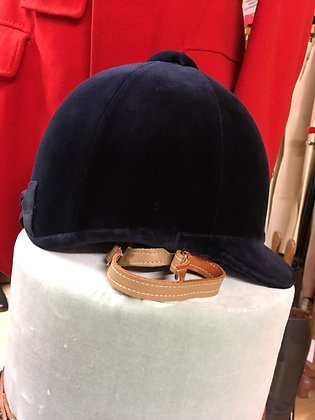 6 3/4  55cm  Navy Blue Patey with harness