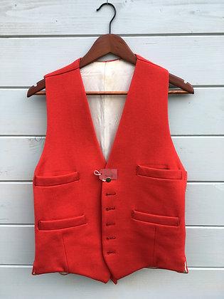 """38/40"""" Red Doeskin Waistcoat"""