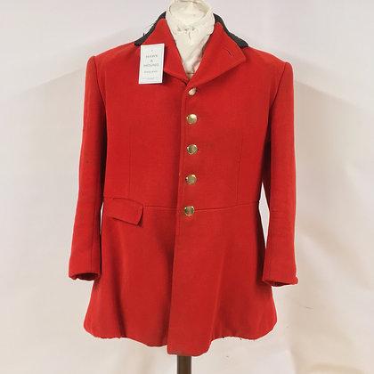 Bernard Weatherill 5 button red hunt coat 40-42