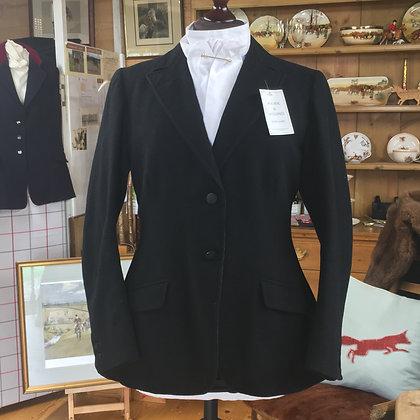 """36"""" Vintage J H Davies 2 button black coat"""