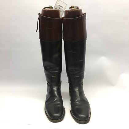 UK Size 9 Mahogany Top Boots with trees