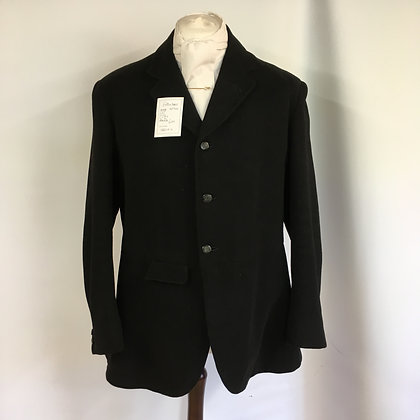 Gent's Black Frank Hall hunt coat 42/44""