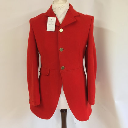 "Caldene 3 button red hunt coat 38"""