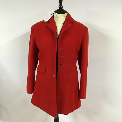 5 button red coat 38""