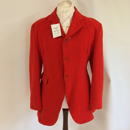 "Caldene 3 button red hunt coat 40"""