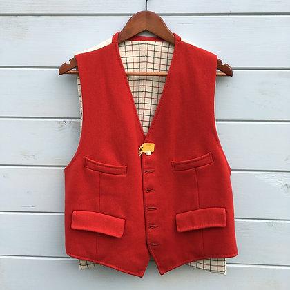 """Red Doeskin Waistcoat 42"""""""