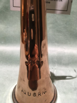 Brass & nickel hunting horn QUORN RG SC