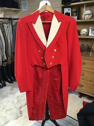 "36"" Gentlemans Evening Dress Red Tail Coat"