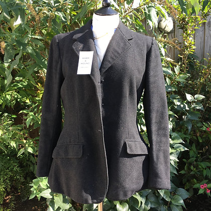 Ladies Bespoke Vintage Black/ Charcoal Hunt Coat 38""