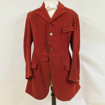 "Welsh & Jefferies 4 button red hunt coat 1932  36"""