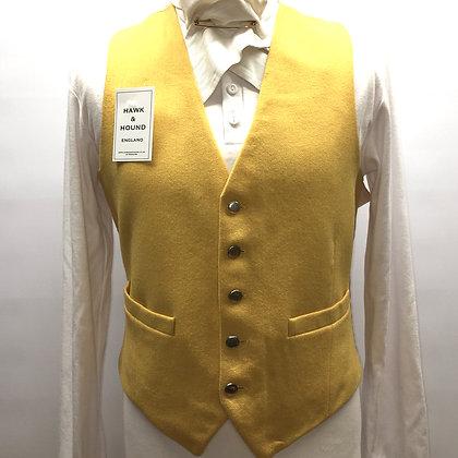 "40"" Gent's mustard wool waistcoat"