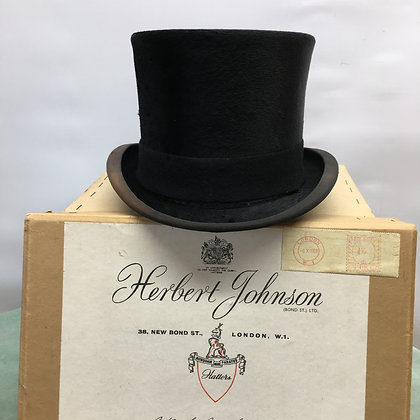 6 3/4 (55cm) Vintage Herbert Johnson Hunting Top Hat