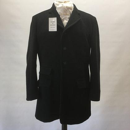 Gent's Foxley Long Black Coat 40