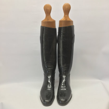 Manfield black boots approx size 13