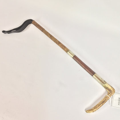 Leather hunting whip