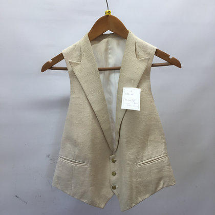 "Men's Ivory Silk evening waistcoat 40"""