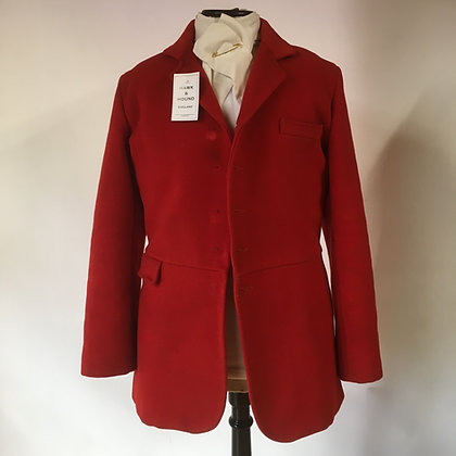 5 Button red hunt coat 38""