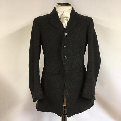 "Moss Bros 3 button black coat 36"""