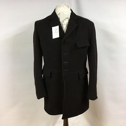 "Gents black 4 button hunt coat 40"""